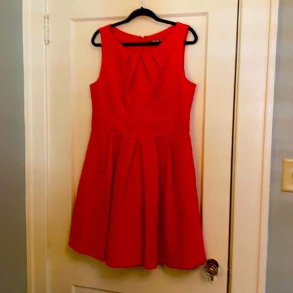 Eliza J lined red/orange dress.